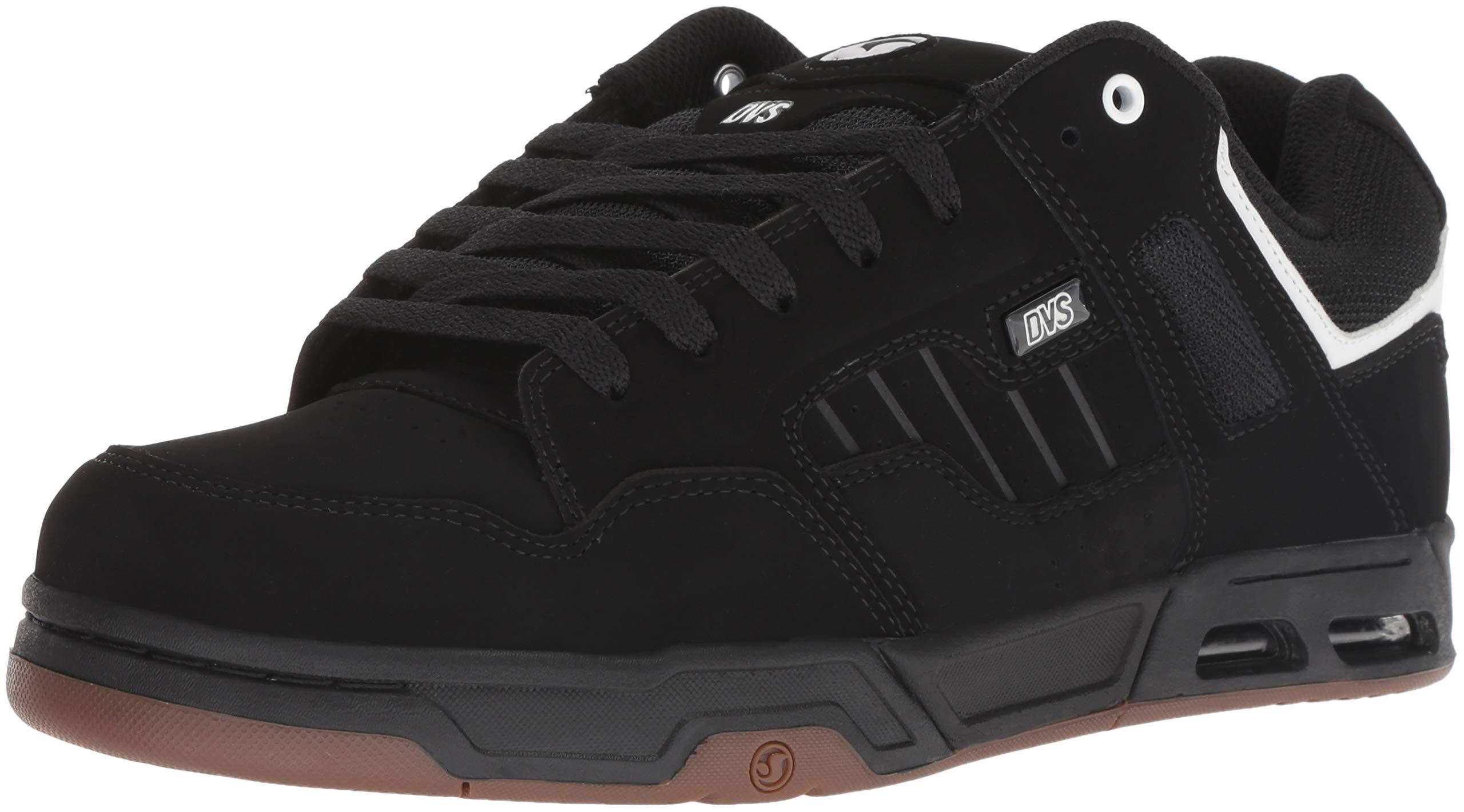 DVS Men's Enduro Heir Skate Shoe, Black/White/Black Nubuck, 13 Medium US