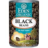 Eden Organic Black Beans, No Salt Added, 15-Ounce Cans (Pack of 12)