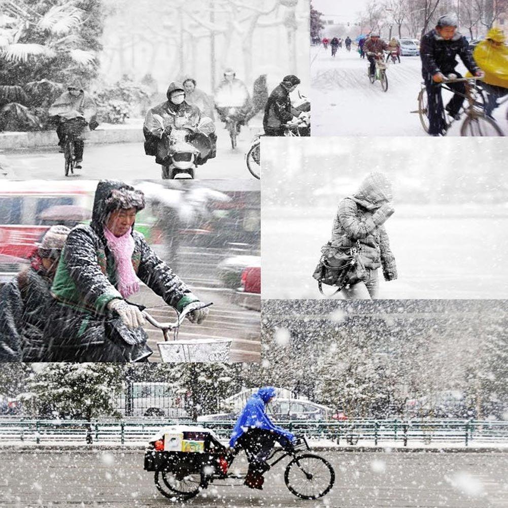 Vbiger Chapka en Peluche Anti-vent Anti-poussière Chaud pour Ski Cyclisme d\'Hiver (Tour de tête: 55-59 cm, Noir)