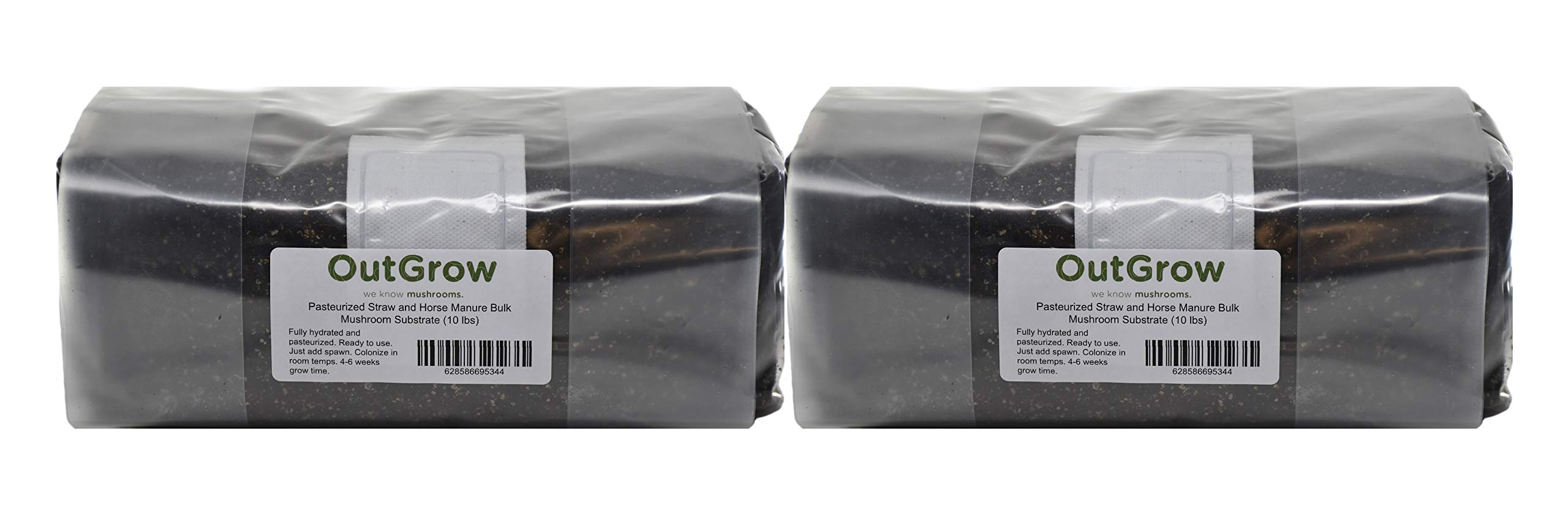 Pasteurized 50/50 Straw and Horse Manure Bulk Mushroom Substrate (10 lbs)