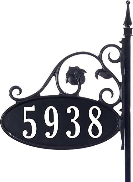 Iron House Plaque Sticker for Home Office Building Door Decoration Number 2