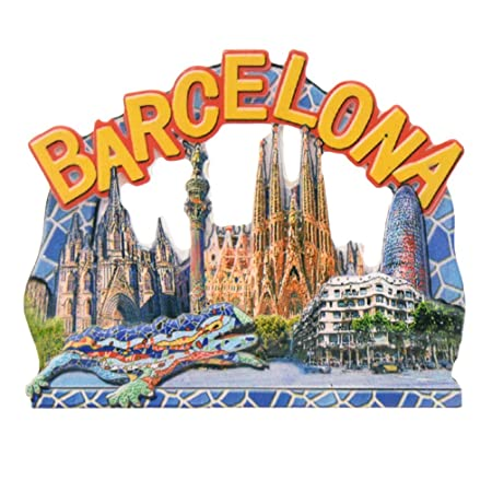 towashine 3d España Barcelona imán para nevera resina imanes para ...