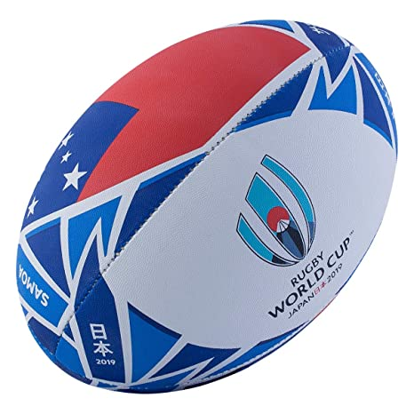 Gilbert Rugby World Cup 2019 Samoa Ball - Balón de Rugby: Amazon ...