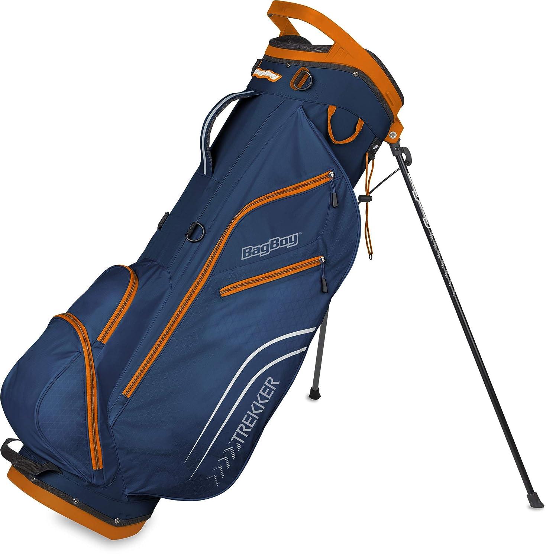 Bag Boy Trekker 超軽量スタンドバッグ - ネイビー/オレンジ   B07K3HX9VG