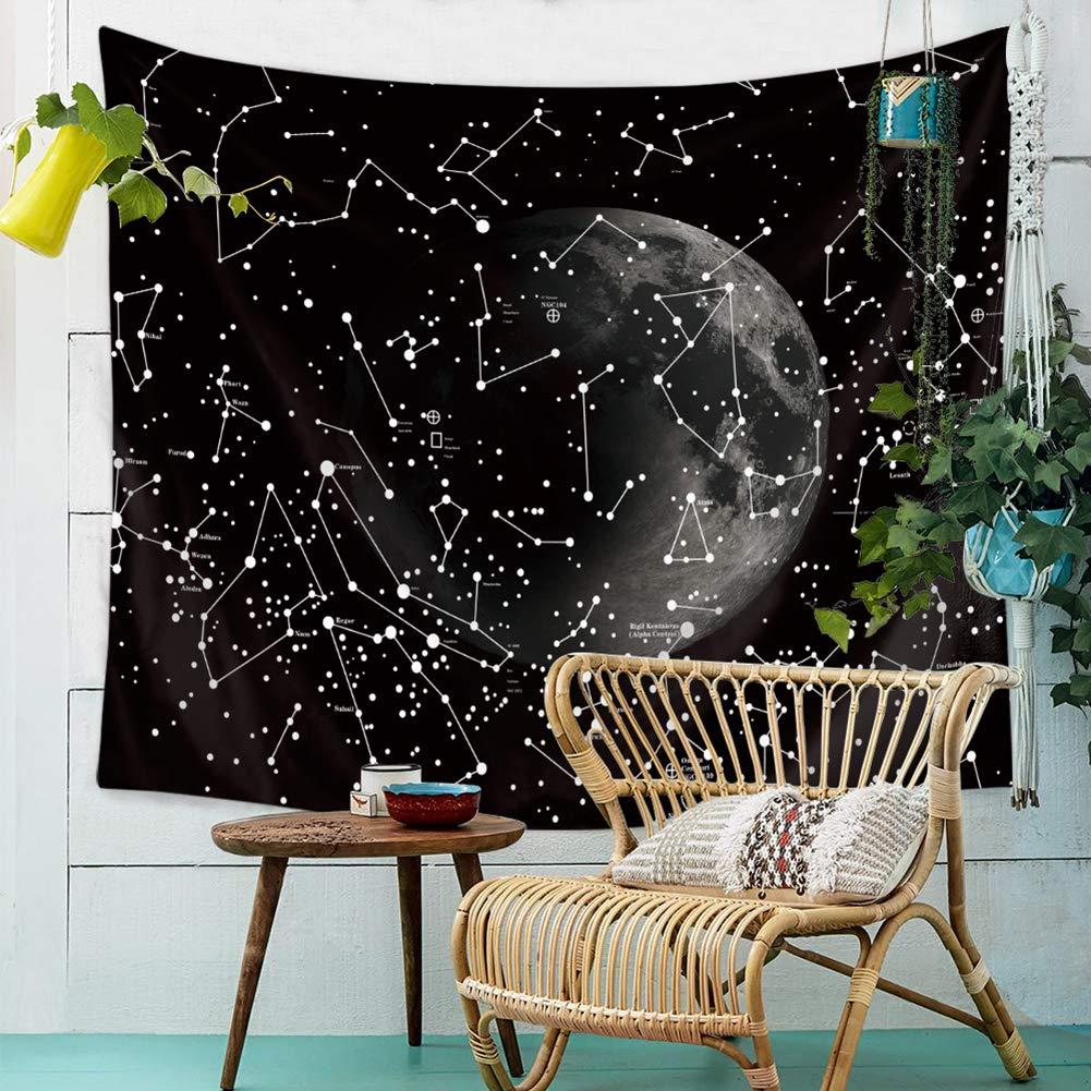 LLQ Galaxie Tapisserie Murale Mandala Ciel /Étoil/é Tapisserie Tenture Murale Psych/éd/élique Tapisseries Plage Serviette Tapis Mural Tapestry D/écoration 90 * 75cm