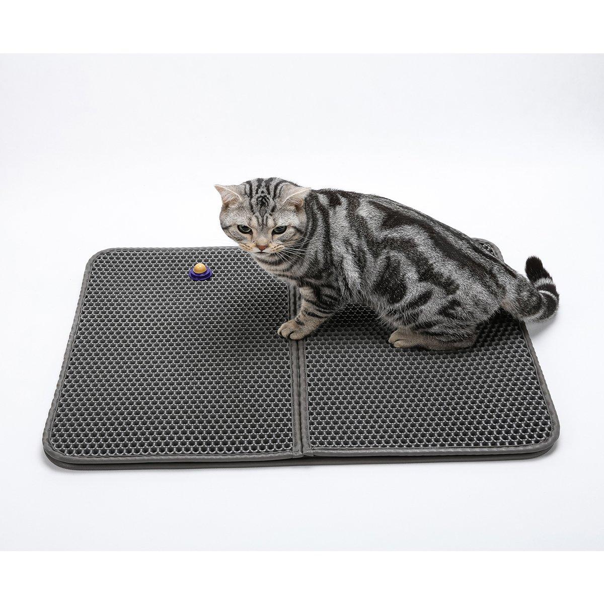 G&M only Cat Litter Mat/Estera de arena para Gatos,Doble Capa Secado Rápido - Super tamaño rectangular de 30