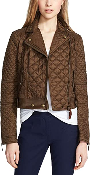 Burberry Brit Women Oakcliffe Quilted Jacket Military Khaki