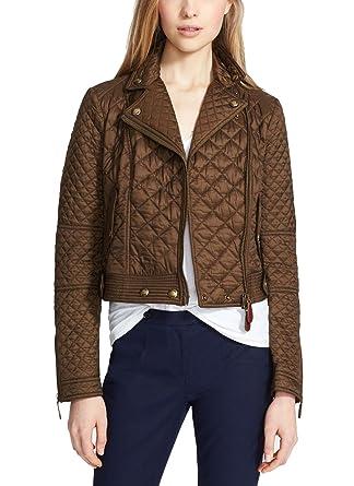 Burberry Brit Women Oakcliffe Quilted Jacket Military Khaki Medium