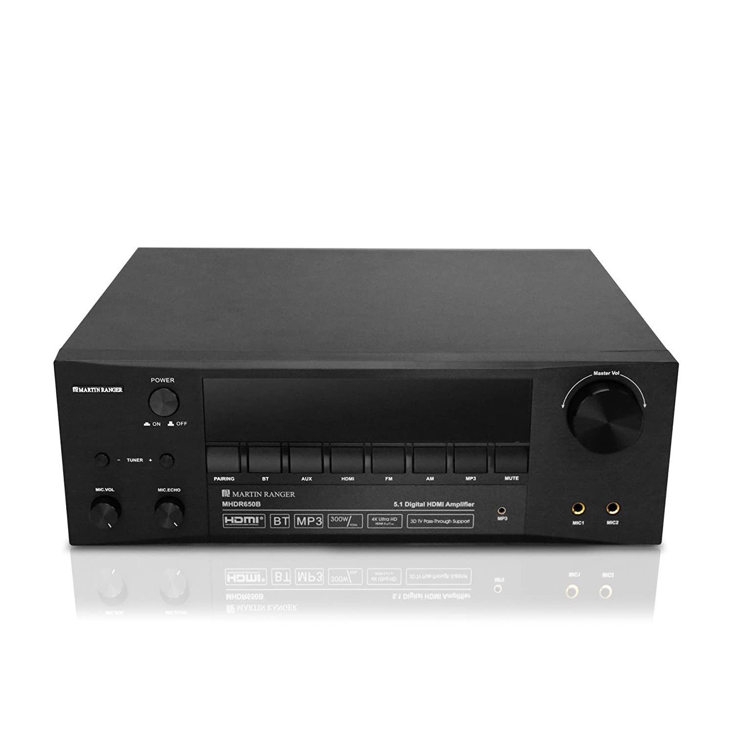 HDMI (2160P/4K) ARC 5.1 Channel Built-in Bluetooth V4.0 &300 Watts Digital Amplifier with VFD Display