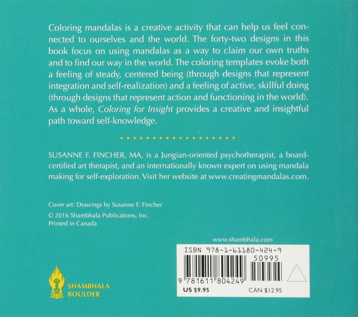 Amazon Coloring For Insight A Mini Mandala Book 9781611804249 Susanne F Fincher Books