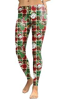 bbf70b8ebd COCOLEGGINGS Womens Digital Print Ugly Christmas Sweater Leggings Tights