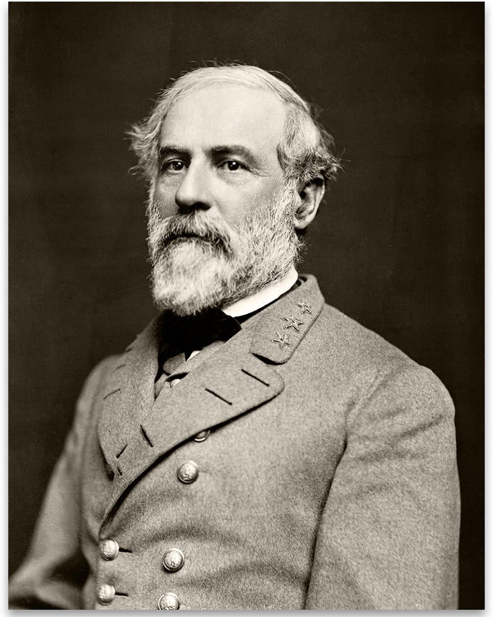 Portrait of General Robert E. Lee - 11x14 Unframed Print - Great Civil War Home Decor Under $15