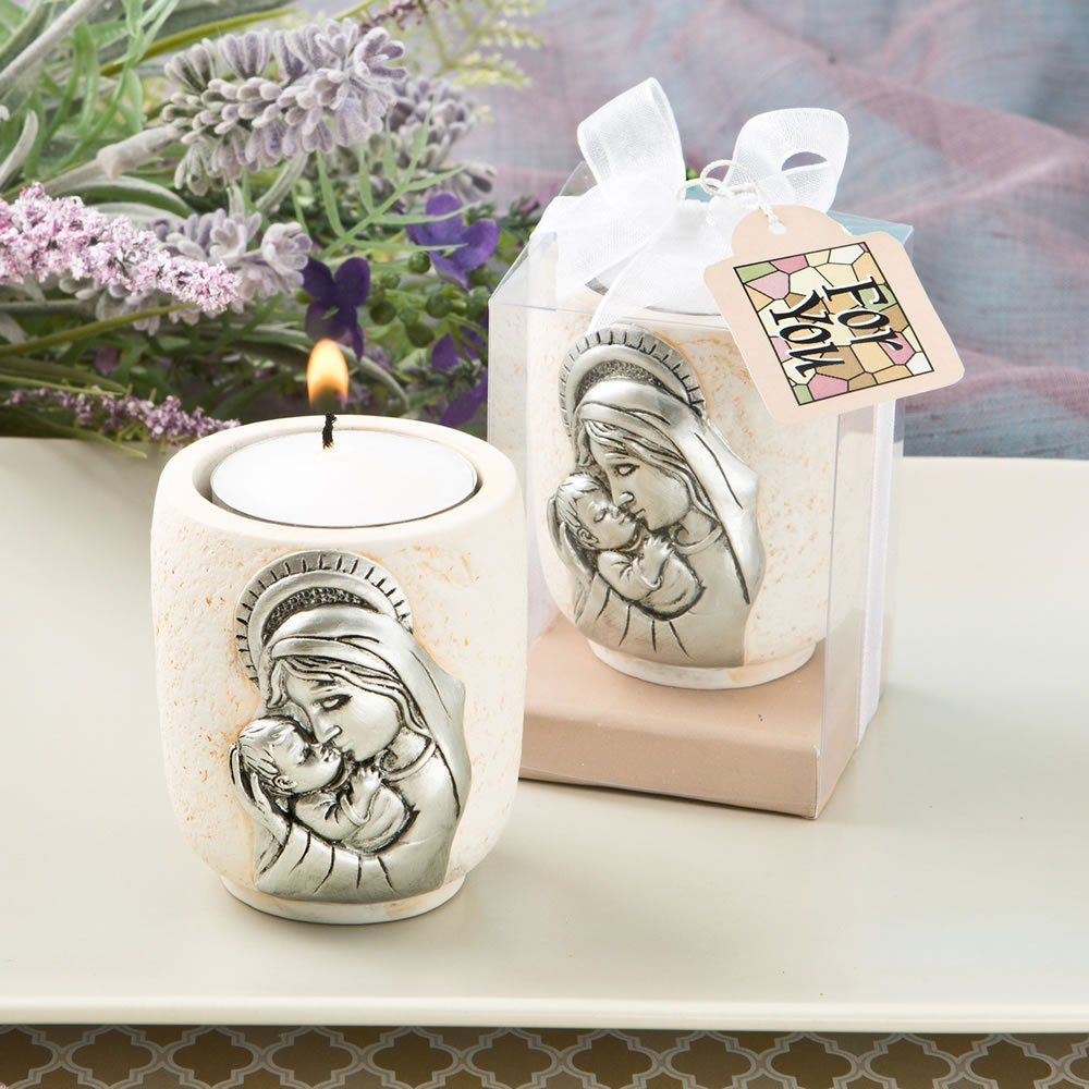 32 Madonna and Child Candle Tea Light Holders Religious Favors