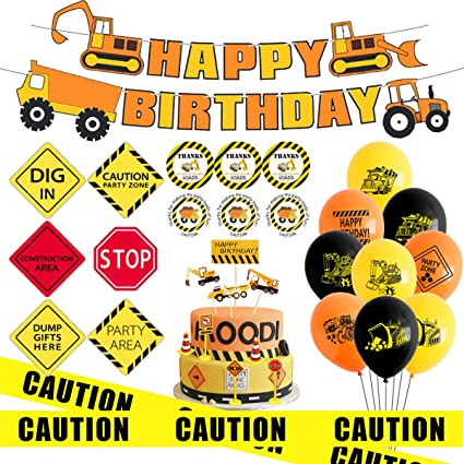 Construction Party Banner Construction Birthday Banner Boy Birthday Construction Zone Party Dump Truck Banner Dump Truck Birthday