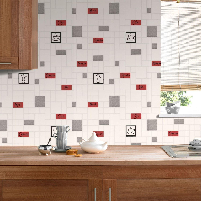 Contour Cafe Culture Kitchen Bathroom Grey Wallpaper