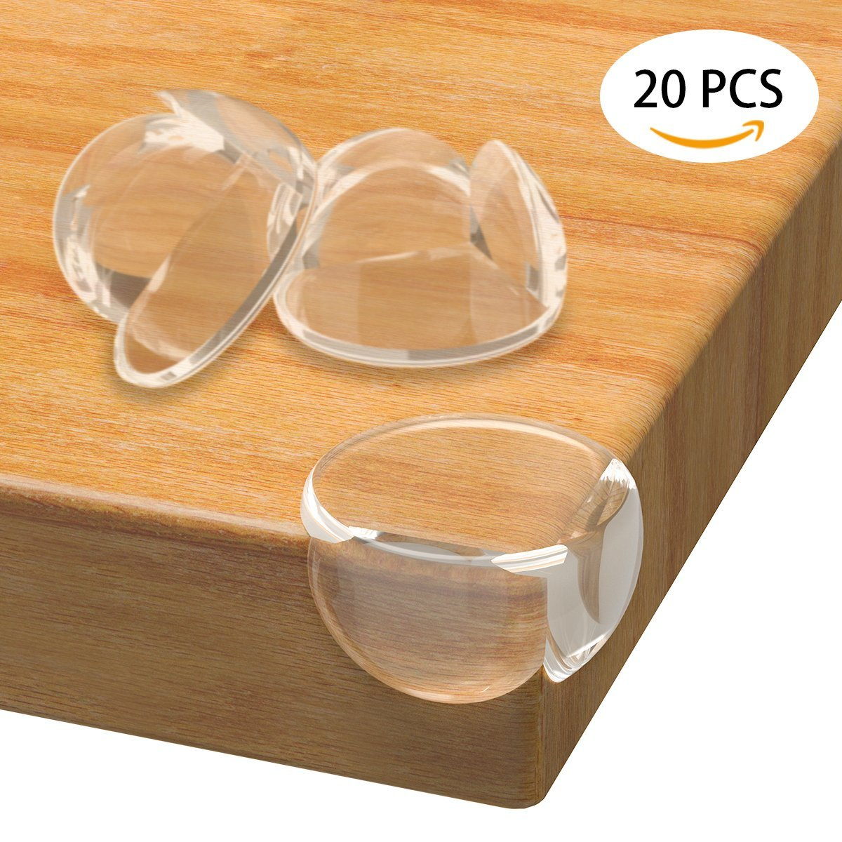 Fypo Corner Protectors, 20 Pcs Safety Table Corner Guard for Baby Kid, Transparent Soft Edge Pad with Strong Adhesive for Furniture SAOYH 01-C0070