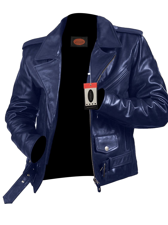 Laverapelle Men's Lambskin Real Leather Jacket Black - 1510523
