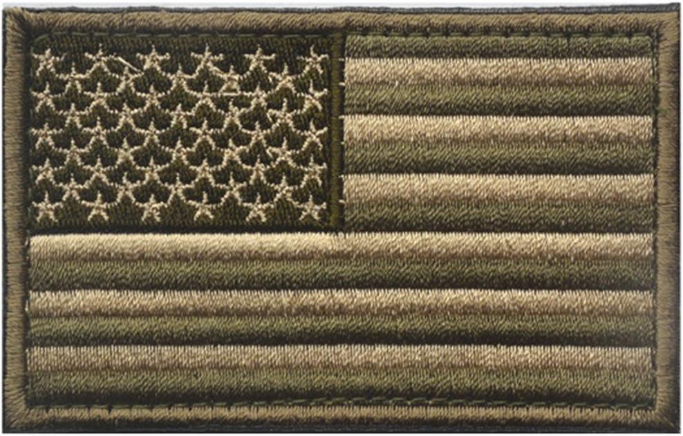 5cm del Bordado de la Bandera Americana Cap/ítulo Ropa Bolsas Patch Pin Brazalete Stickers beIilan 8