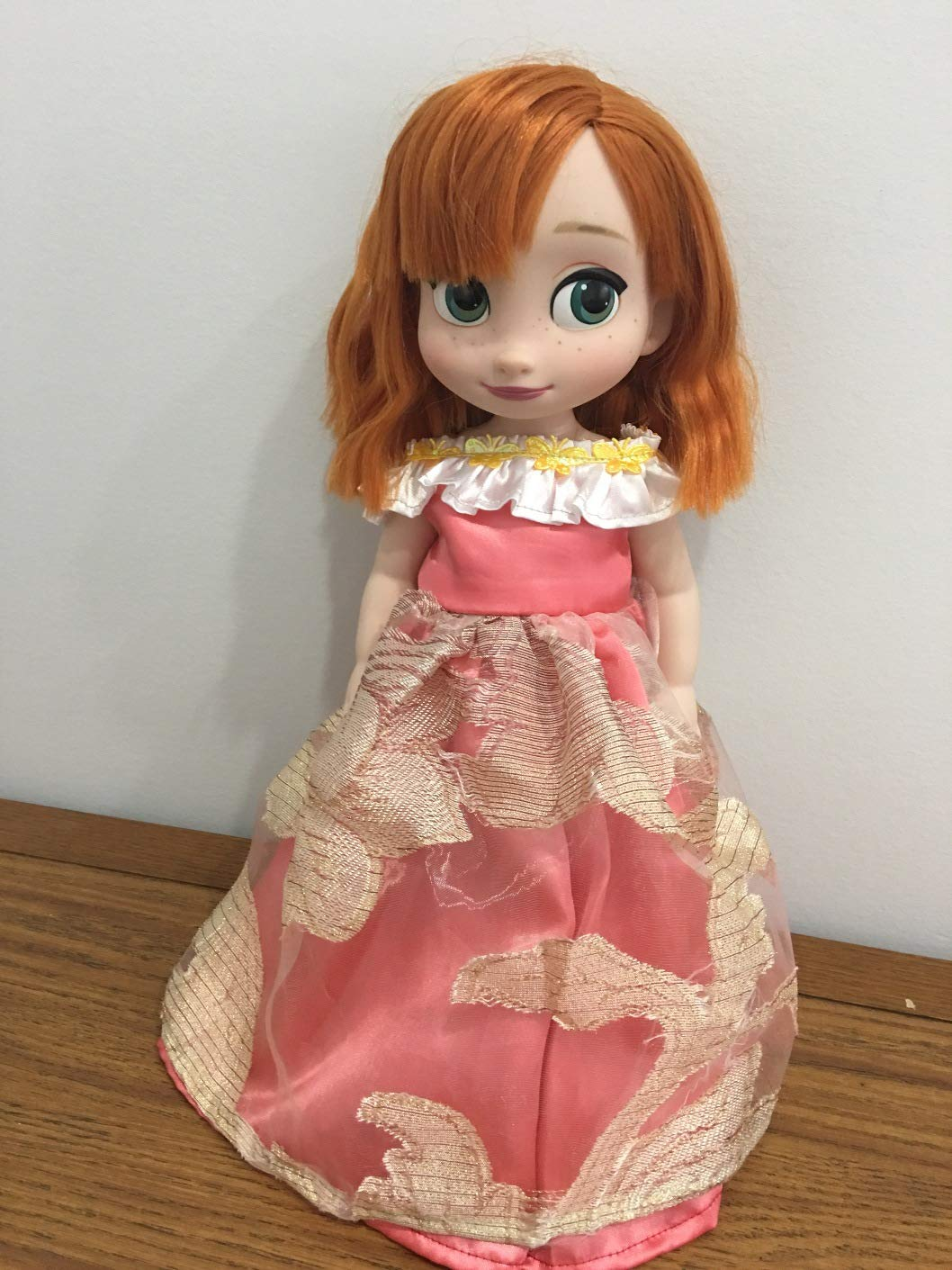 Fits 16 Disney Animators Doll Clothes Princess Gown Coral Butterfly Off The Shoulder Dress Handmade NO DOLL