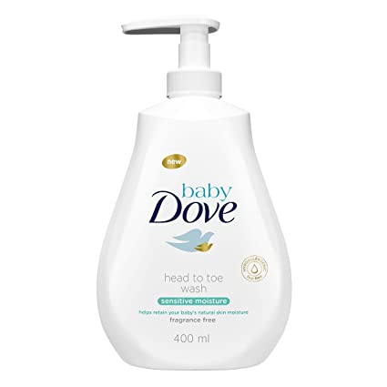 Gel de baño Baby Dove sensitive moisture de la cabeza a los pies 400ml - Pack