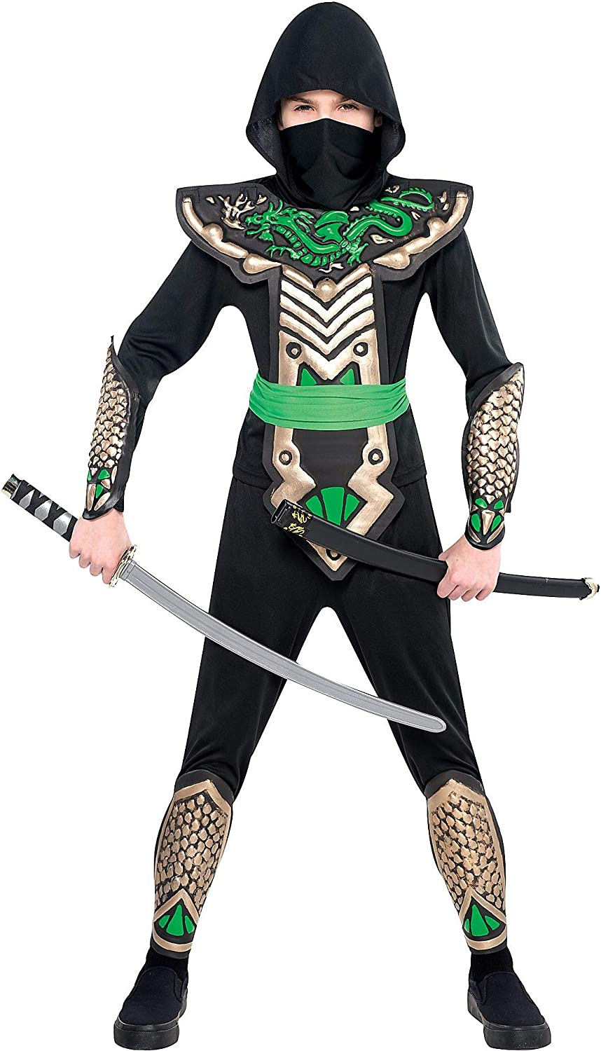 AMSCAN Ninja Dragon Halloween Costume for Boys, Medium, with Included Accessories
