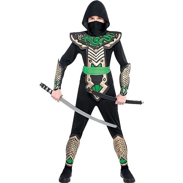 Amazon.com: Dragon Slayer Ninja Niño Disfraz, M ...