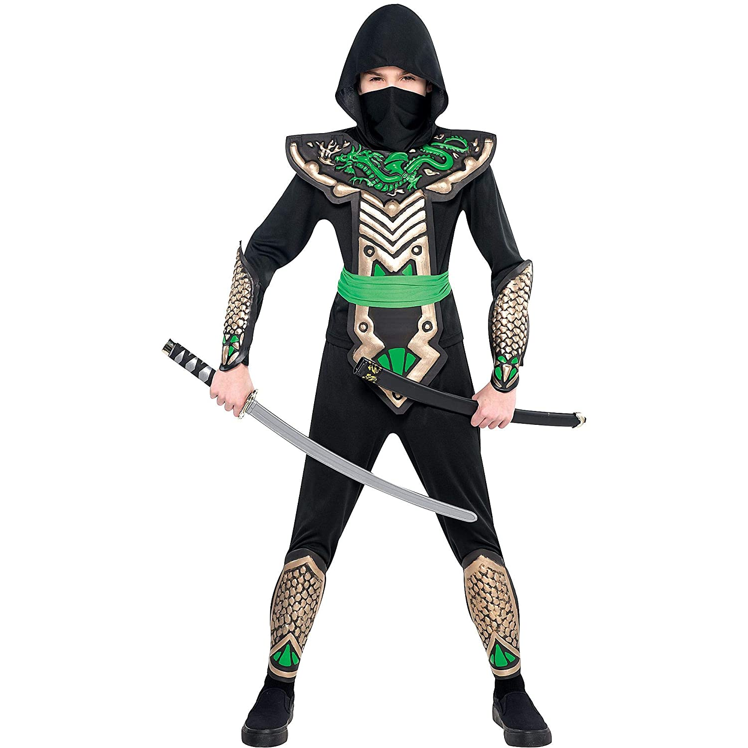 AMSCAN Ninja Dragon Halloween Costume for Boys, Large, with Included Accessories