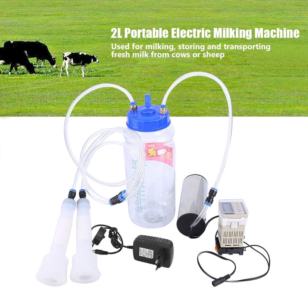 Elektrische Melkmaschine Melken 100-250 V tragbare elektrische Melkmaschine 2L mit Impulssteuerung f/ür K/ühe und Schafe Probieren Sie es aus European regulations
