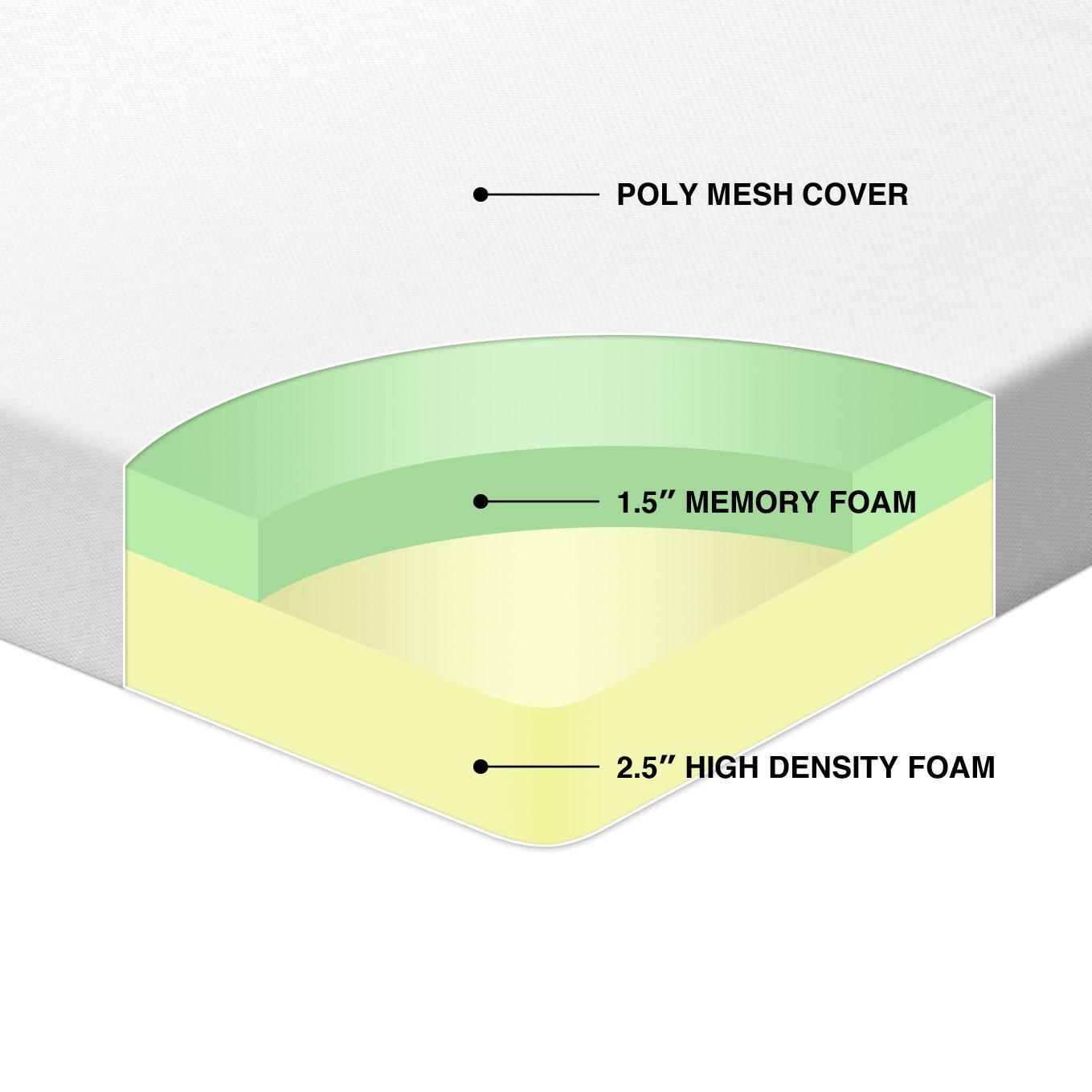 amazon com best price mattress 4 inch memory foam mattress topper