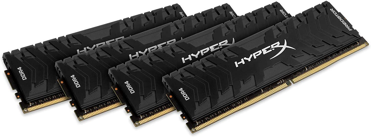 HyperX Predator Black 64GB kit 3333MHz DDR4 CL16 DIMM XMP Desktop PC Memory (HX433C16PB3K4/64)