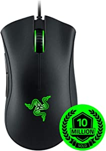 Razer DeathAdder Essential Gaming Mouse: 6400 DPI Optical Sensor - 5 Programmable Buttons - Mechanical Switches - Rubber Side Grips - Classic Black