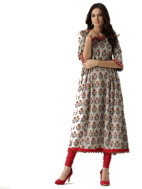 8fb016f739 Designer Kurta Kurti Indian Women Bollywood Ethnic Pakistani Kurtis Dress  Tunics Cotton Tops Long (L