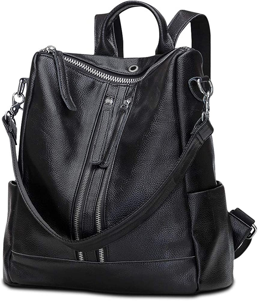 Modoker Backpack Purse for Women, Travel Leather Backpack, Convertible Shoulder Bag, School Bag with Hands Free Earphone Hole