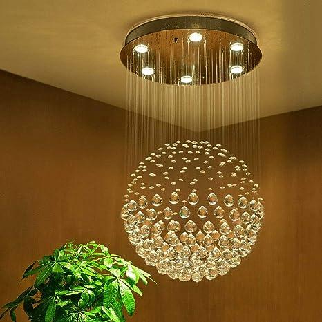 Moderno Cristal Araña de lluvia Iluminación de la lámpara ...