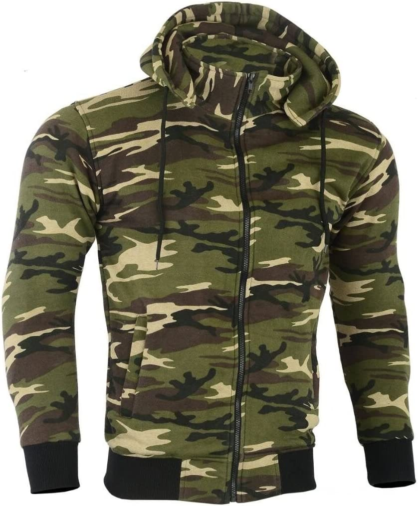 XXXL, Camo New Motorbike Motorcycle Fleece Hoody Hoodie Full CE Removable Protection Armour