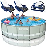 intex 16 x 48 ultra frame swimming pool set w 1500 gph krystal