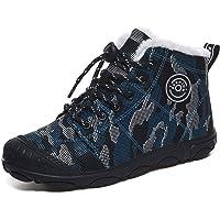 Veluckin Botas de Nieve Unisex niños Malla de Camuflaje Invierno Zapatos