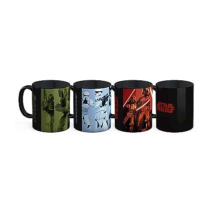 SD toys Set de Mini Tazas Café Diseño Star Wars EP.VIII, Cerámica,