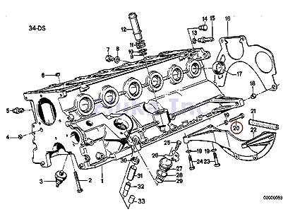 2 x bmw genuine bolt - auto trans bellhousing to engine block (12 x 75