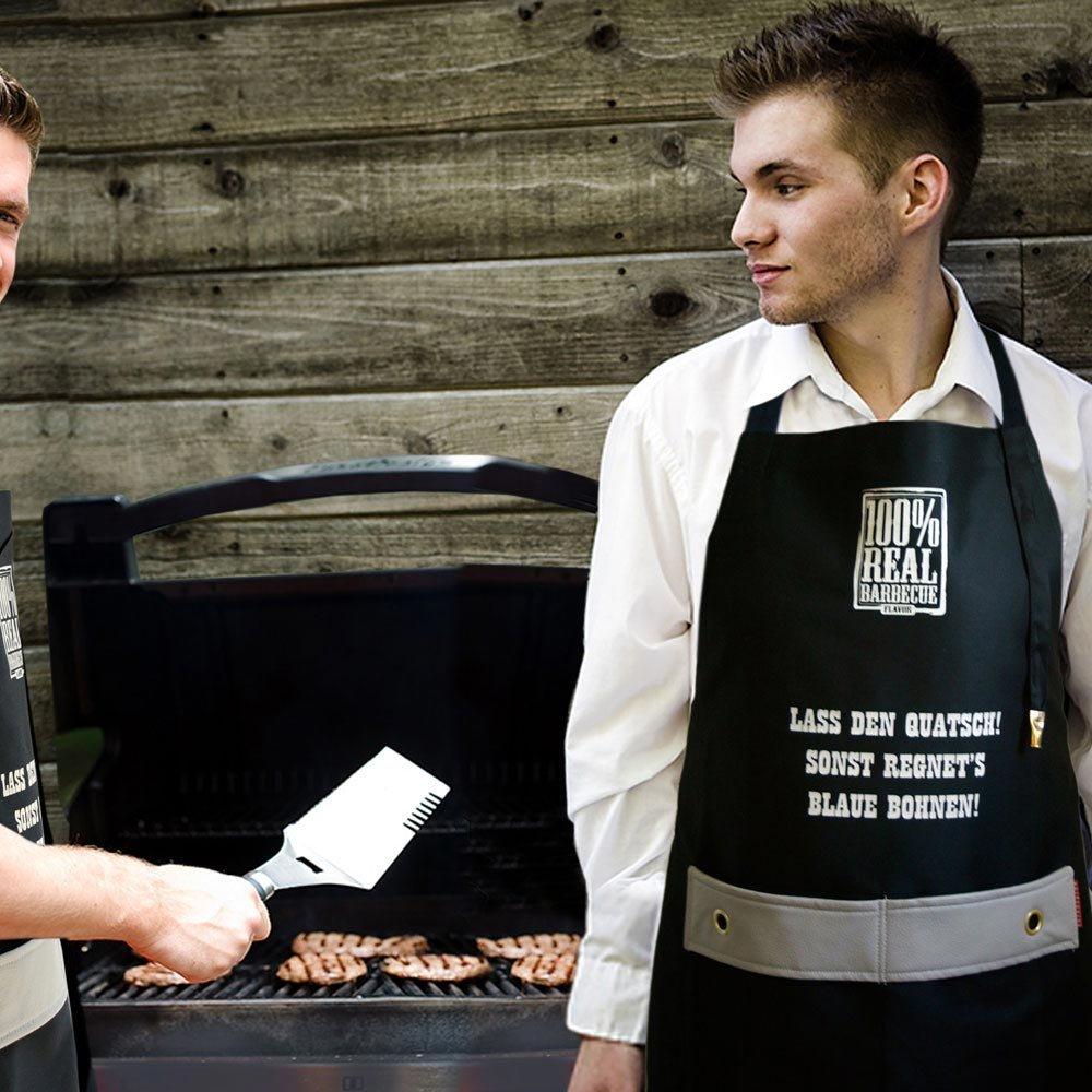 Kochschürze Ehrensache Küchenschürze Grillschürze BBQ Schürze Blaue Bohnen