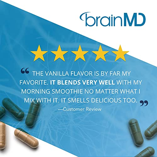 Dr. Amen brainMD Omni Protein Vanilla – 2.38 lbs – Plant-Based Protein Powder, Promotes Energy Exercise Recovery – Vegan, Vegetarian, Sugar-Free, Gluten-Free – 30 Servings