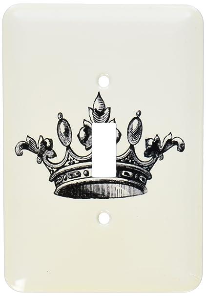3drose Llc Lsp 151405 2 Majestic Corona Blanco Y Negro Dibujo