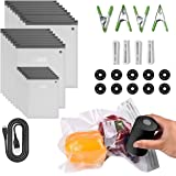 Sous Vide Bags 56 PCS Electric Vacuum Sealer - 35 Reusable Vacuum Food Storage Bags for Anova and Joule Cookers - 3…
