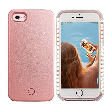 more photos a98d5 2edaf Light Up Selfie LED Phone Case Cover For iPhone 6/6s Rose Gold