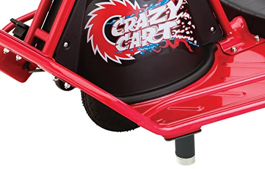 Amazon.com : Razor Crazy Cart Electric 360 Spinning Drifting Kids Ride On Outdoor Go Cart : Toys And Games : Sports & Outdoors