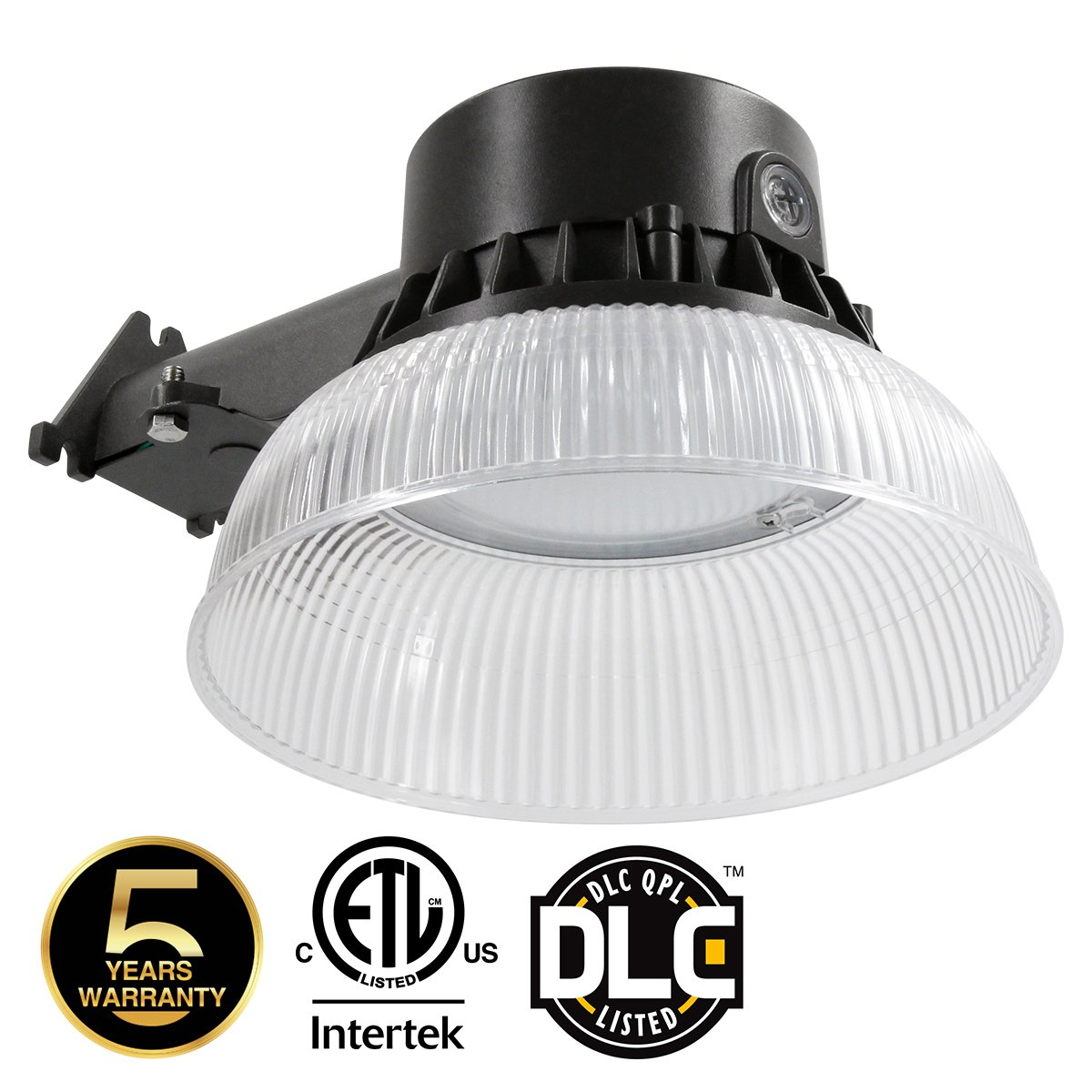 LED Yard Light for Area Lighting, LED Barn Light with Photocell 58W (550W Incandescent Or 250W HID Light Equiv.), 7500LM 5000K Daylight White, 5-Years Warranty Wet Location 50K B2 1PK