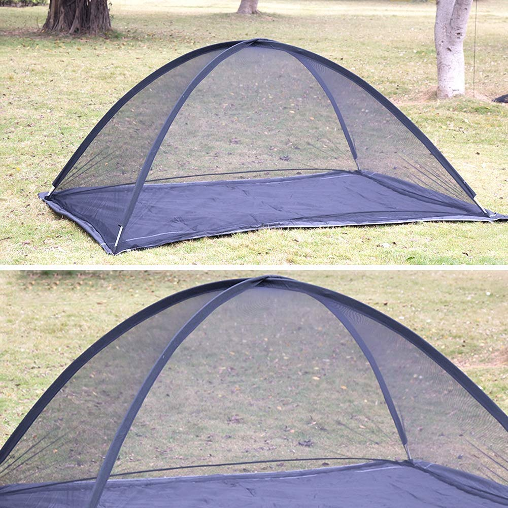 Large Double Bed Free-Standing Mosquito Net Tent for Outdoor, Beach, Hiking, Traveling, Backyard,Quick Easy Installation