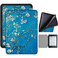 Capa Kindle Paperwhite 10ª geração à prova d'água - Função Liga/Desliga - Fechamento magnético - Silicone - Apricot Flower
