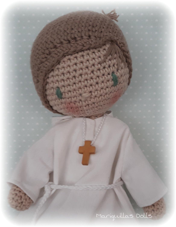 Muñeca crochet PERSONALIZADA COMUNIÓN Mariquilla.: Amazon.es ...