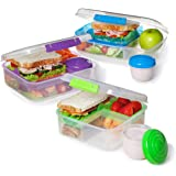 Sistema Bento Box To Go Food Storage Container, 1.7 Cup, 4 Pack